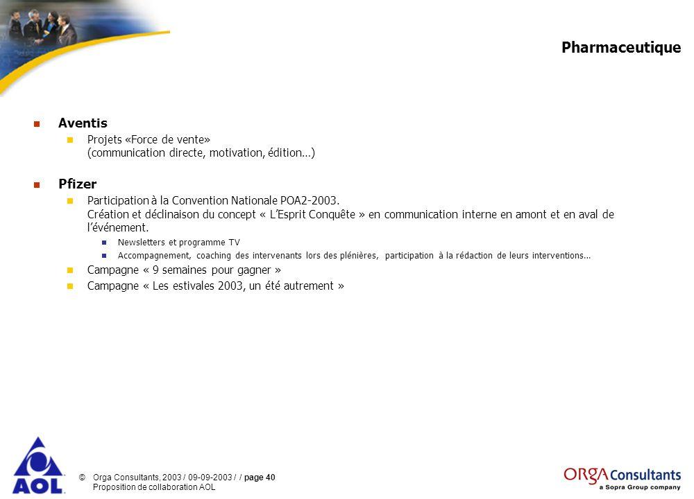 Pharmaceutique Aventis Pfizer