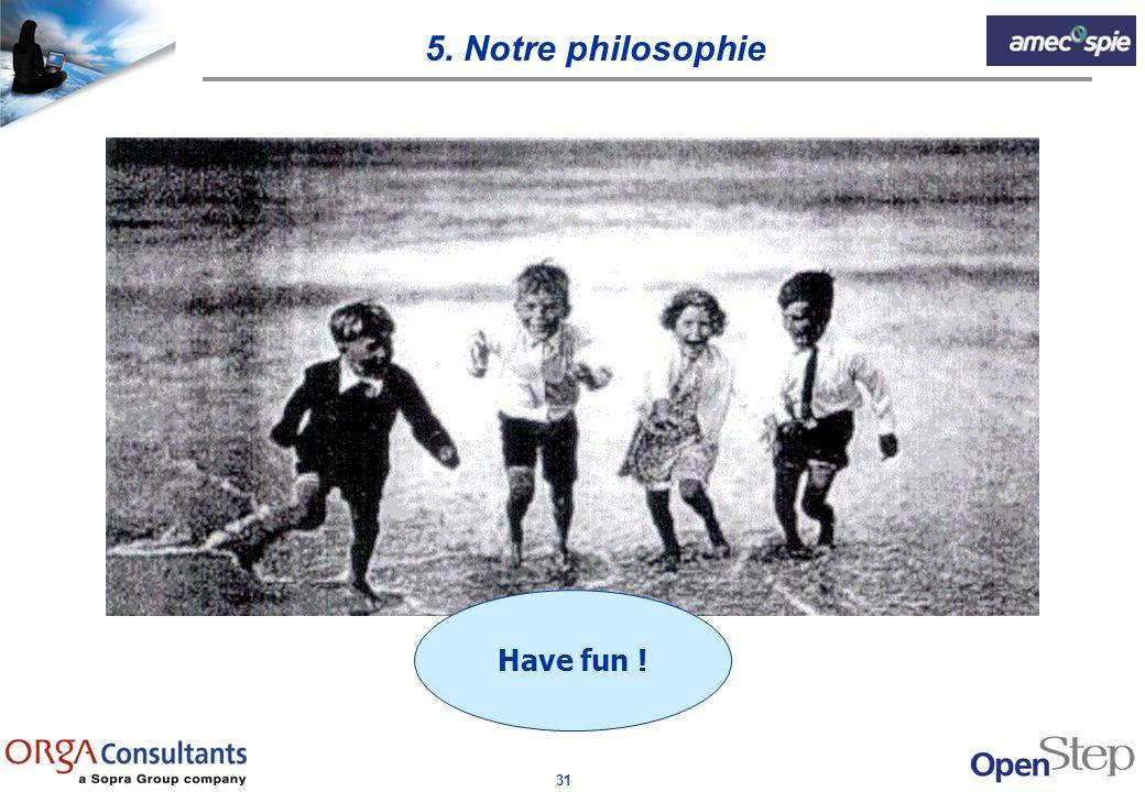 5. Notre philosophie Have fun !