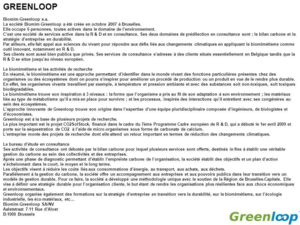 GREENLOOP Biomim-Greenloop s.a.