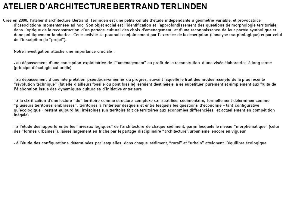 ATELIER D'ARCHITECTURE BERTRAND TERLINDEN