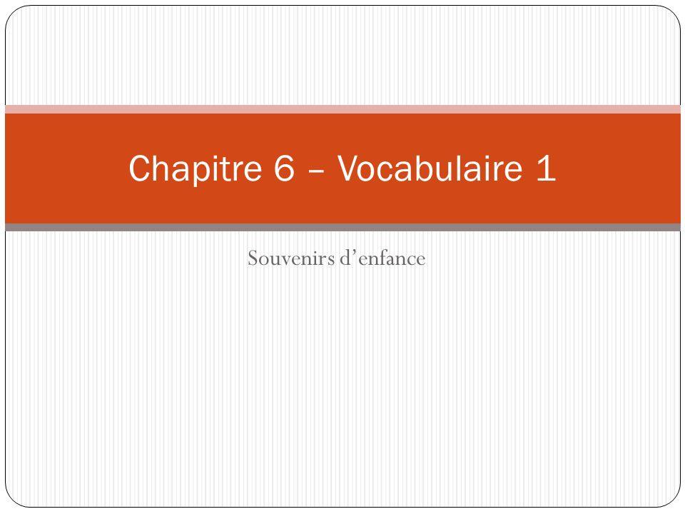 Chapitre 6 – Vocabulaire 1