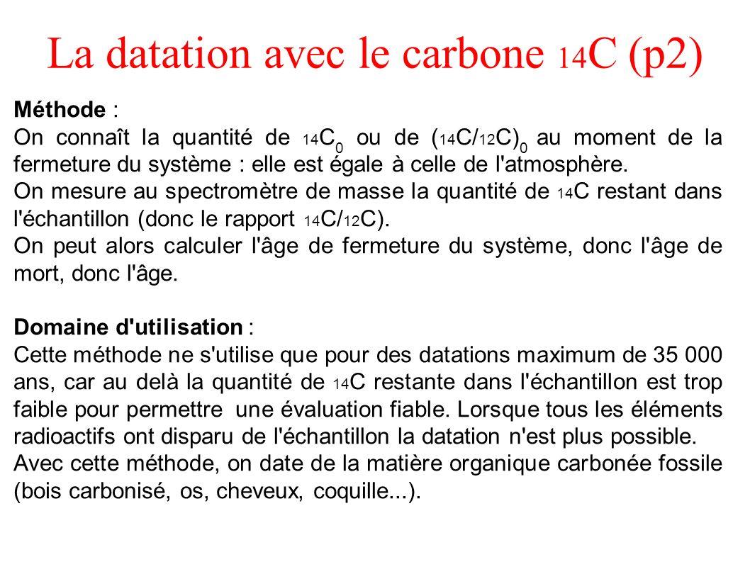 La datation avec le carbone 14C (p2)