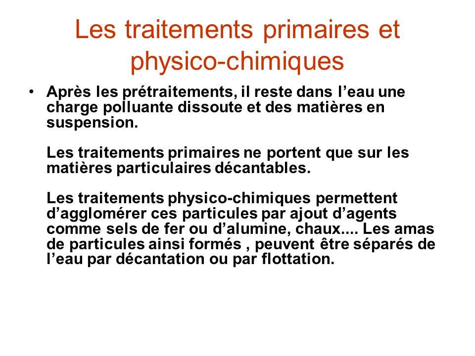 Les traitements primaires et physico-chimiques