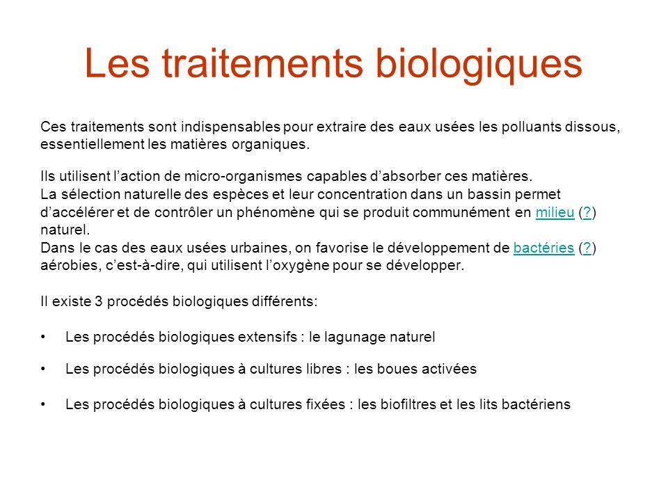 Les traitements biologiques
