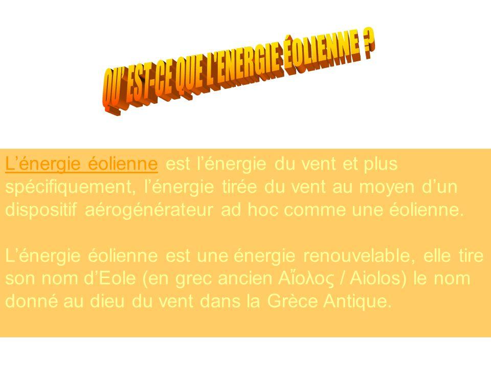 QU' EST-CE QUE L ENERGIE ÉOLIENNE