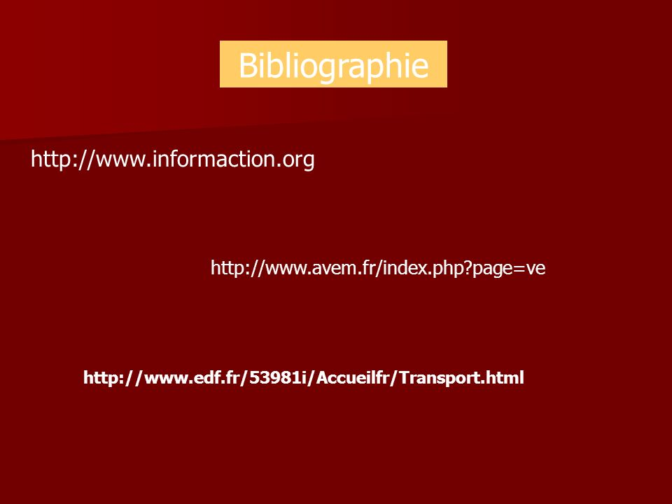 Bibliographie http://www.informaction.org