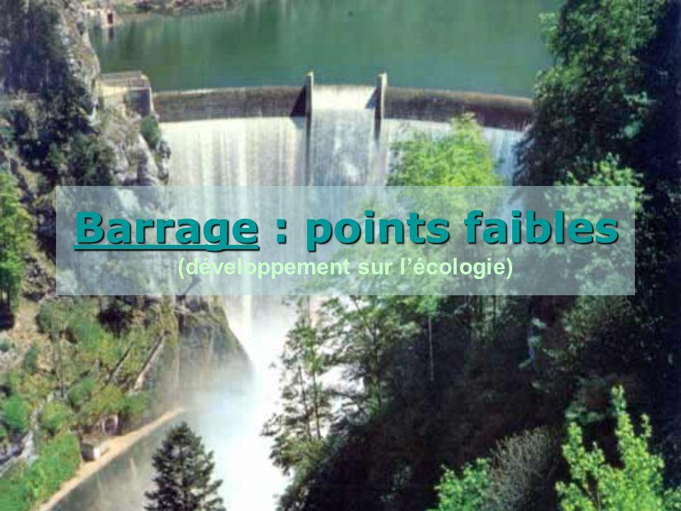 Barrage : points faibles (développement sur l'écologie)