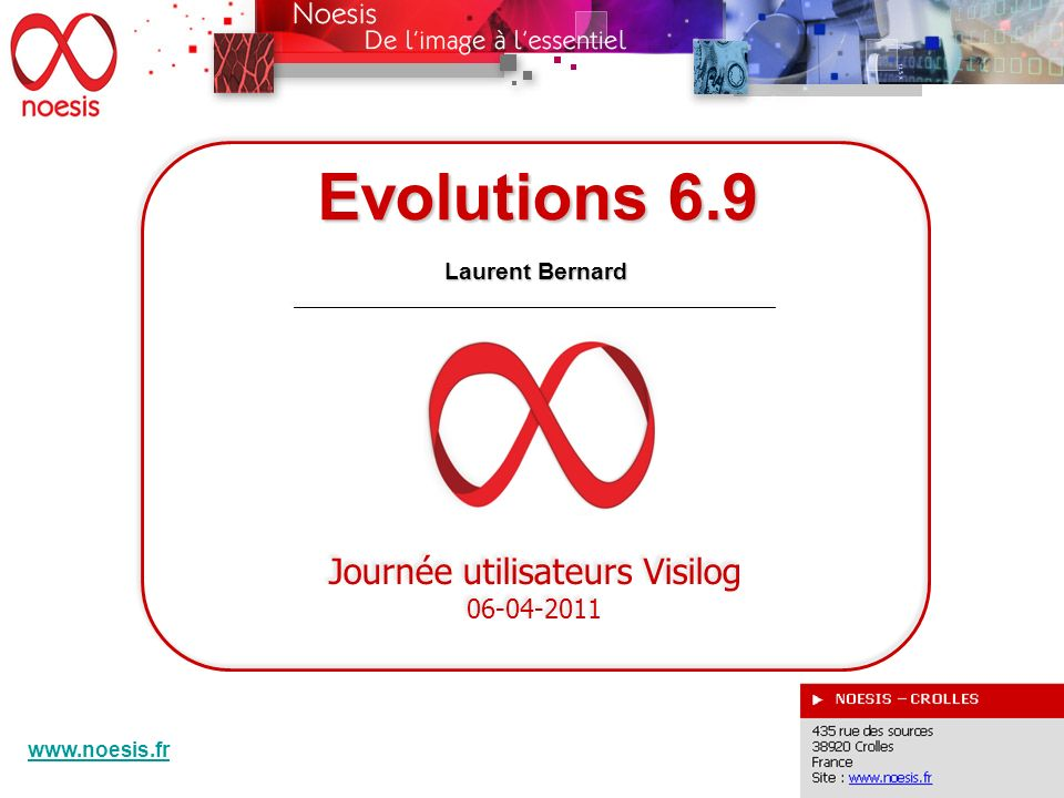 Evolutions 6.9 DEVELOPPEMENTS SPECIFIQUES Harold Phelippeau