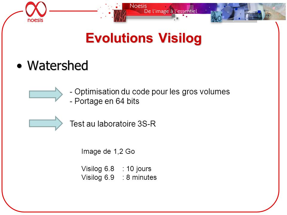 Evolutions Visilog Watershed