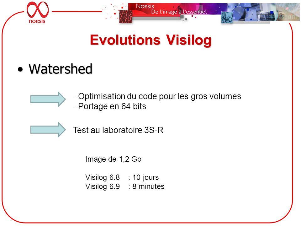 Evolutions Visilog Watershed