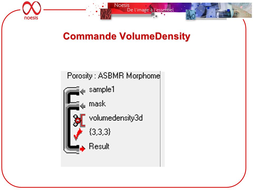 Commande VolumeDensity