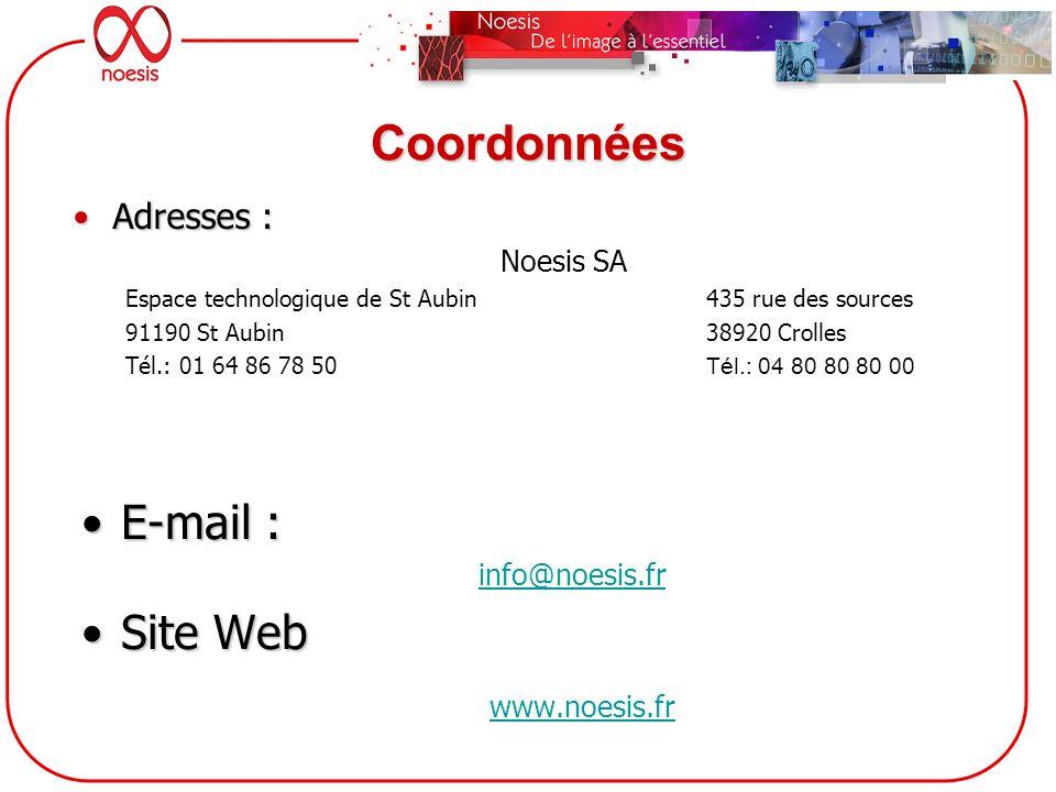 Coordonnées E-mail : Site Web