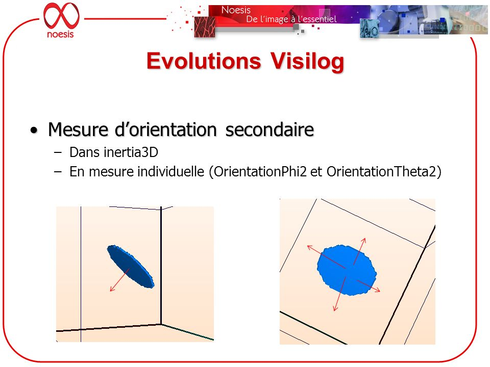 Evolutions Visilog Mesure d'orientation secondaire Dans inertia3D