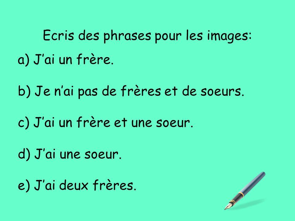 Ecris des phrases pour les images: