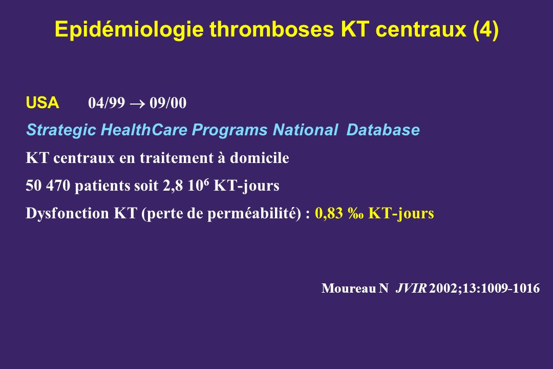 Epidémiologie thromboses KT centraux (4)