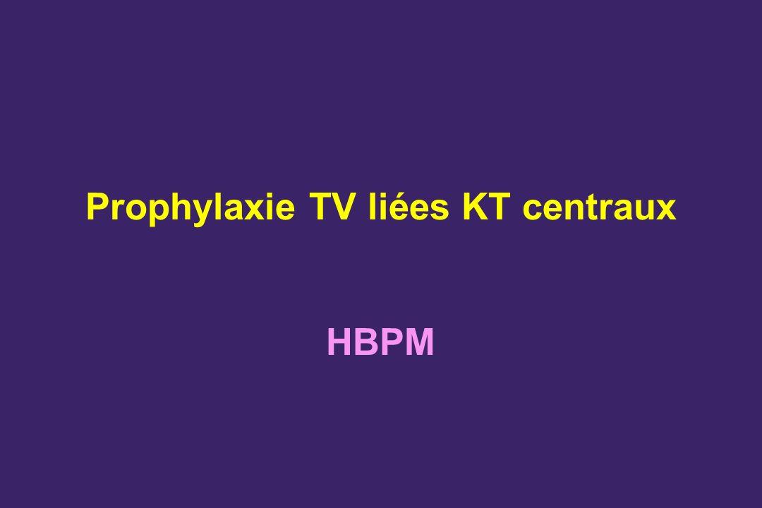 Prophylaxie TV liées KT centraux HBPM