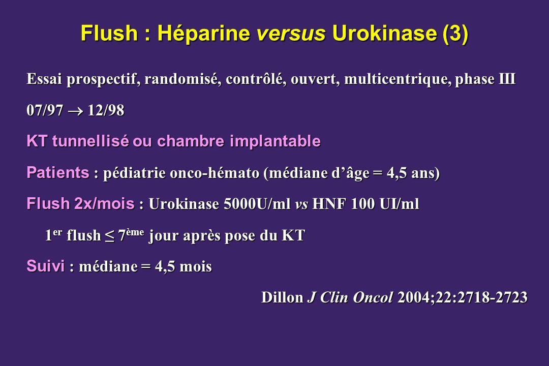 Flush : Héparine versus Urokinase (3)