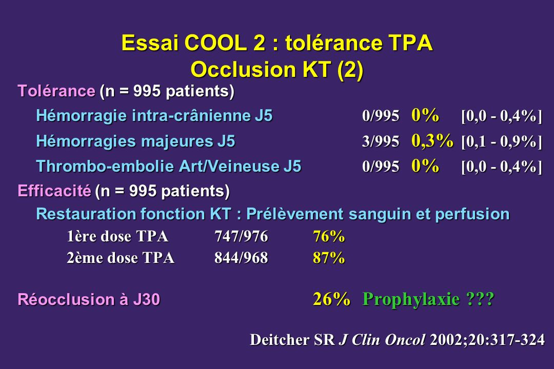 Essai COOL 2 : tolérance TPA Occlusion KT (2)