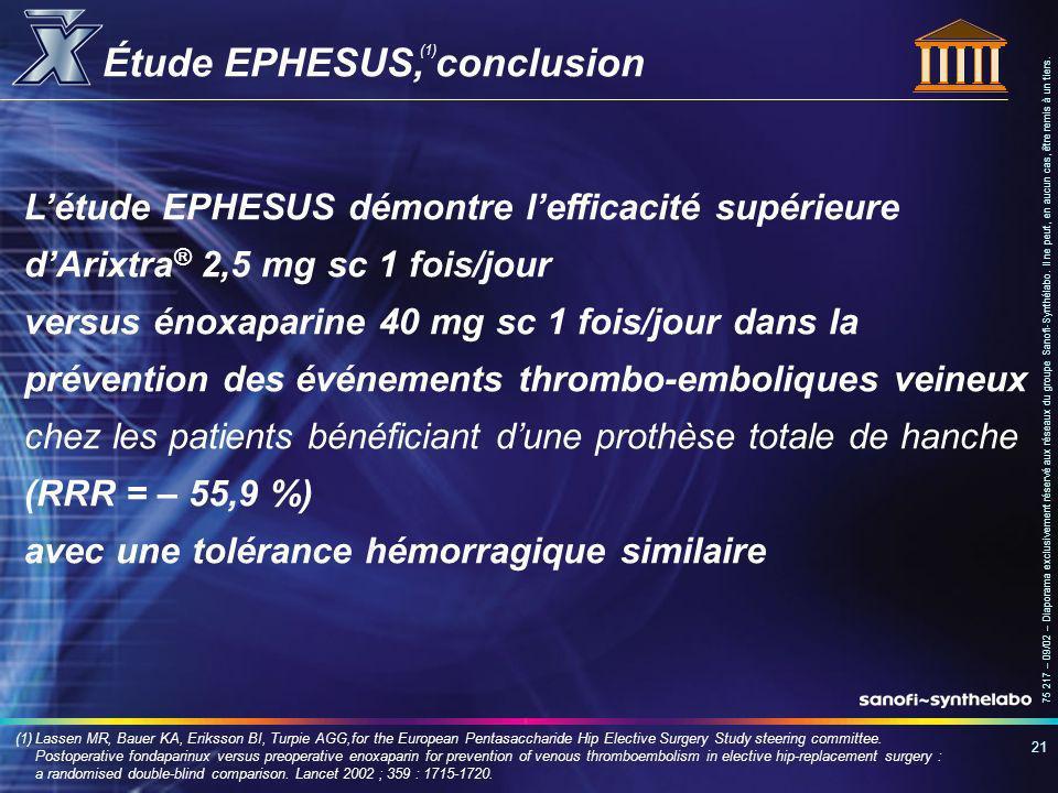 Étude EPHESUS, conclusion