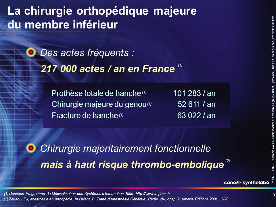 La chirurgie orthopédique majeure du membre inférieur