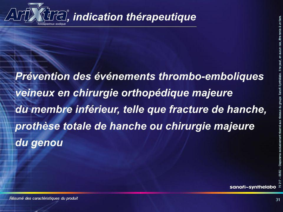 , indication thérapeutique
