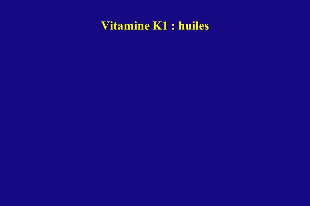 Vitamine K1 : huiles
