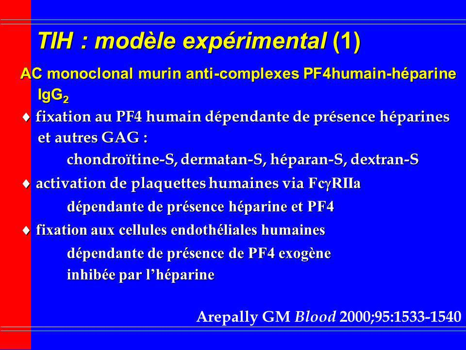 TIH : modèle expérimental (1)