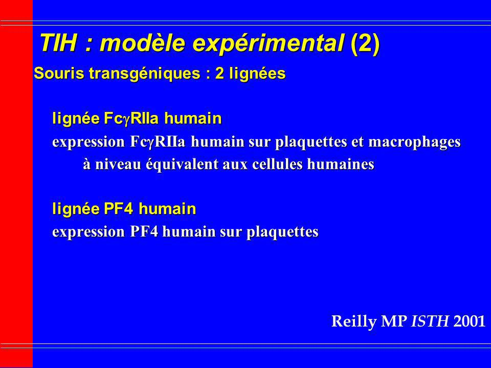 TIH : modèle expérimental (2)