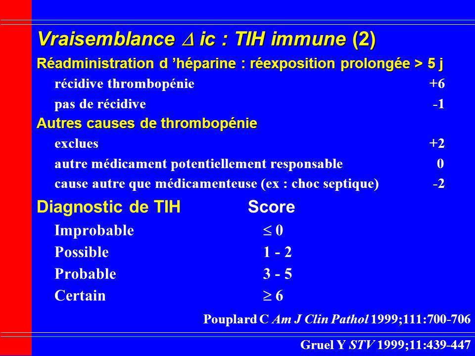 Vraisemblance  ic : TIH immune (2)