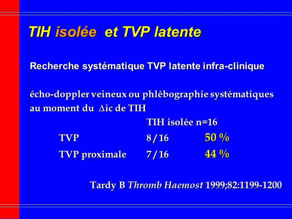 TIH isolée et TVP latente