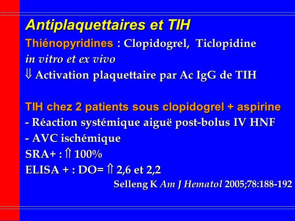 Antiplaquettaires et TIH