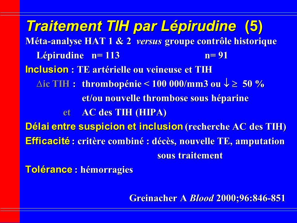 Traitement TIH par Lépirudine (5)