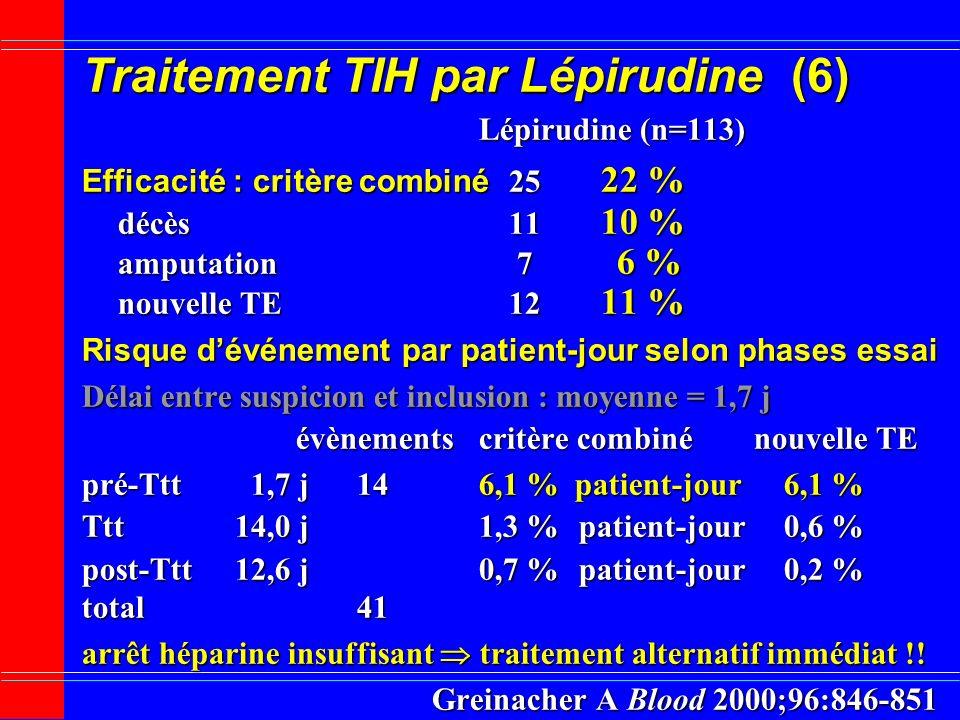 Traitement TIH par Lépirudine (6)