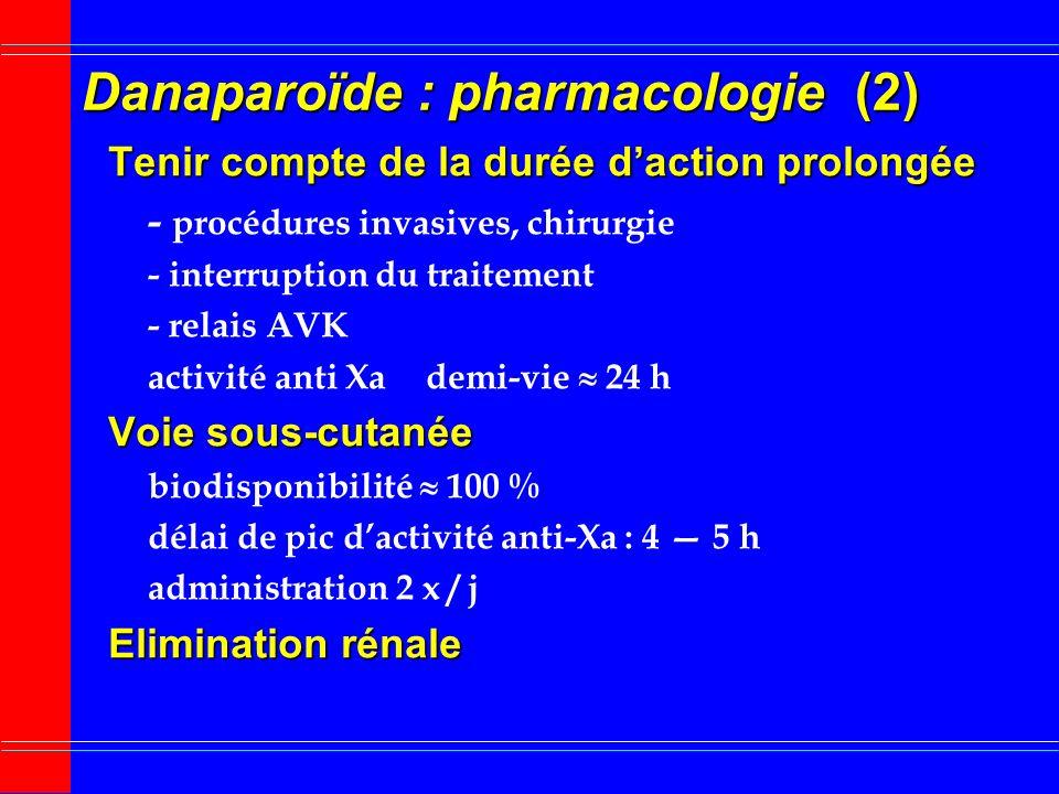 Danaparoïde : pharmacologie (2)