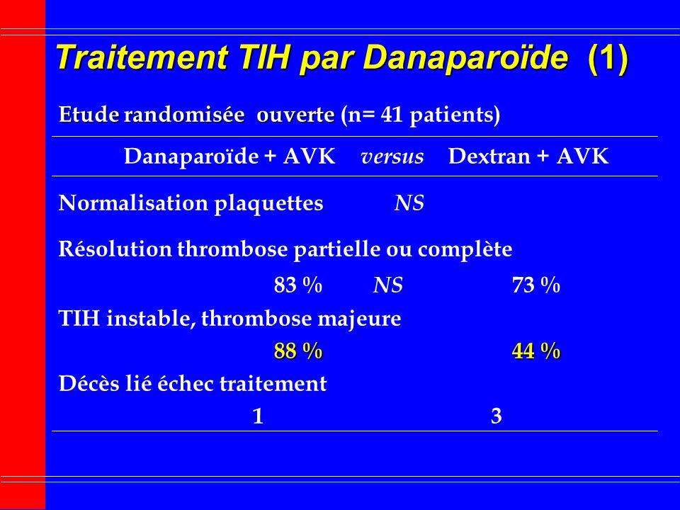 Traitement TIH par Danaparoïde (1)