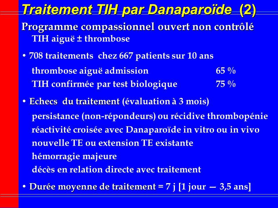 Traitement TIH par Danaparoïde (2)