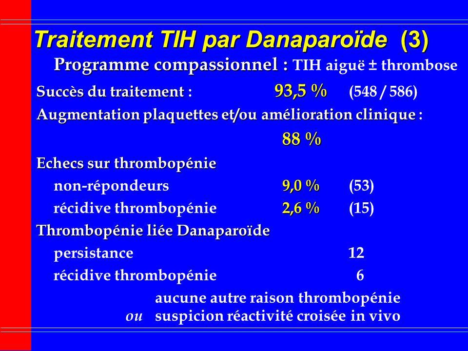 Traitement TIH par Danaparoïde (3)
