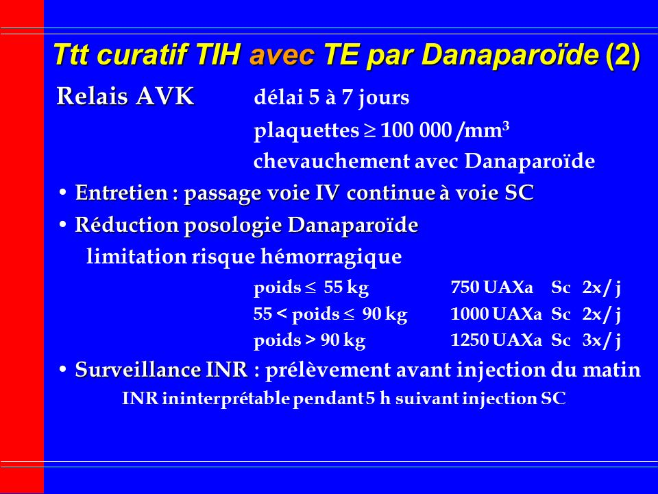 Ttt curatif TIH avec TE par Danaparoïde (2)