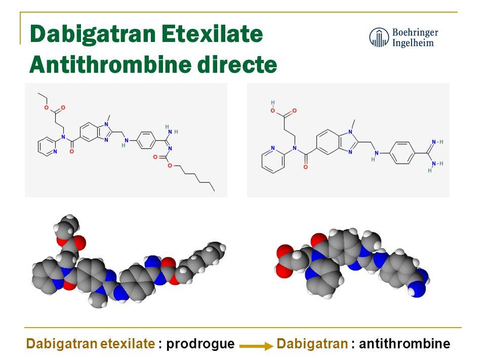 Dabigatran Etexilate Antithrombine directe