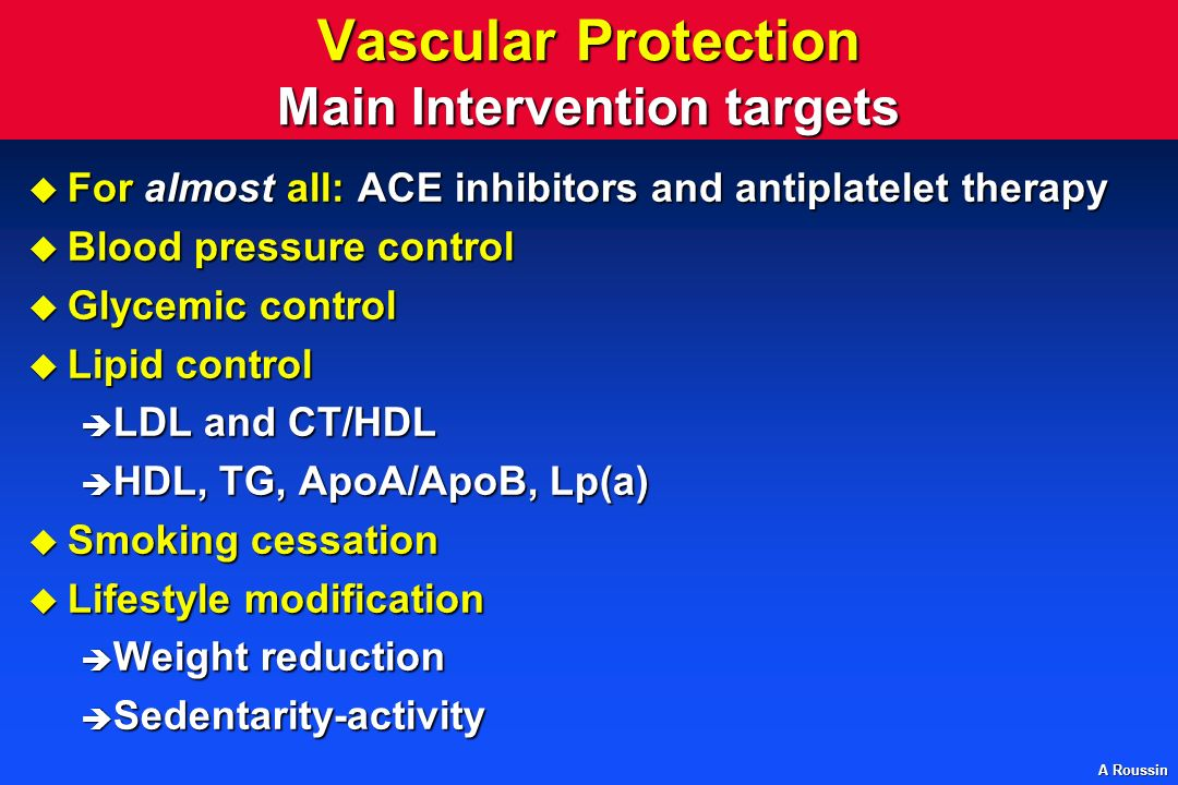Vascular Protection Main Intervention targets