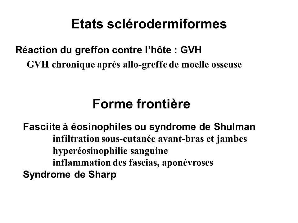 Etats sclérodermiformes