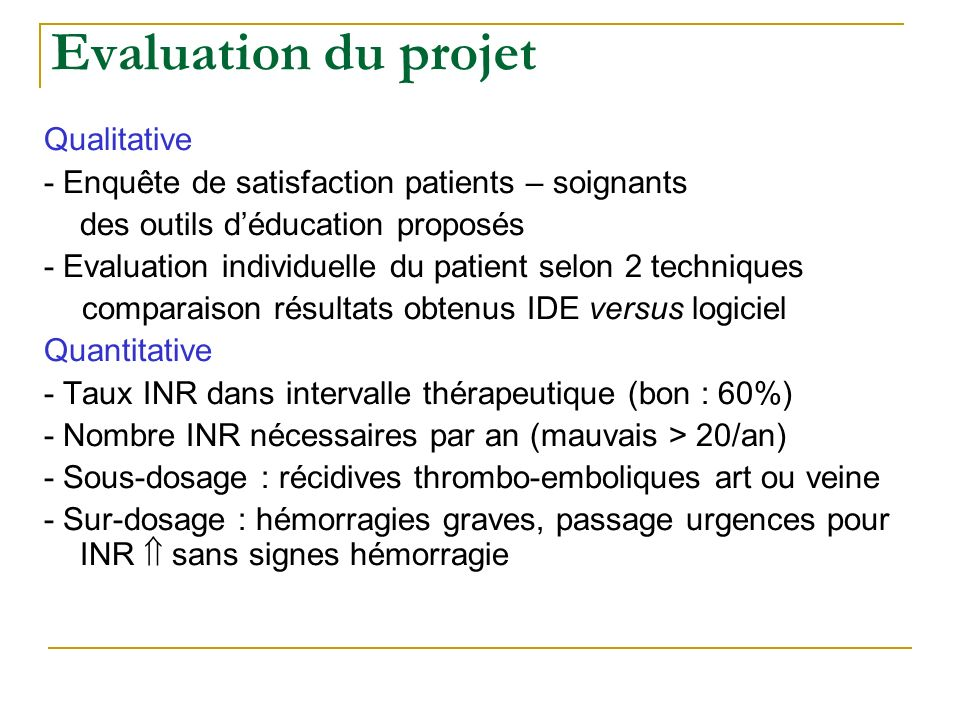 Evaluation du projet Qualitative