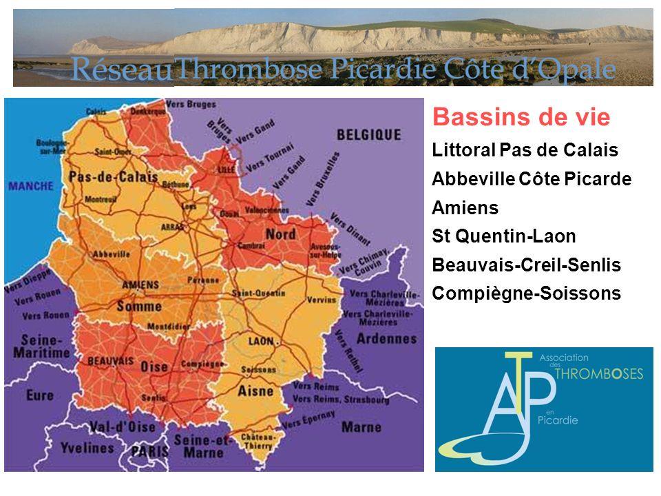 Bassins de vie Littoral Pas de Calais Abbeville Côte Picarde Amiens