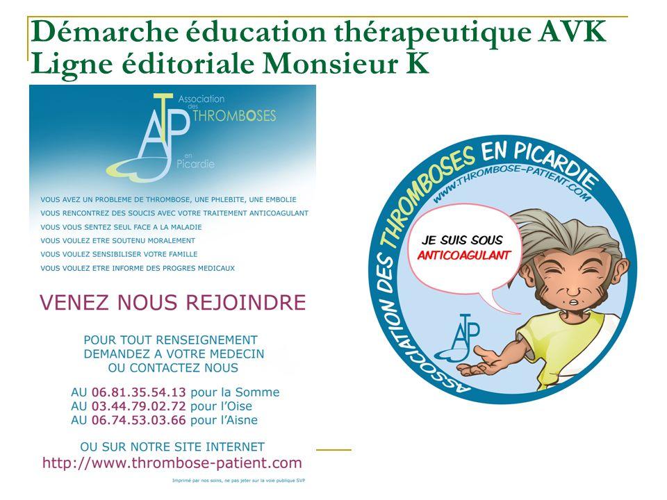 Démarche éducation thérapeutique AVK Ligne éditoriale Monsieur K