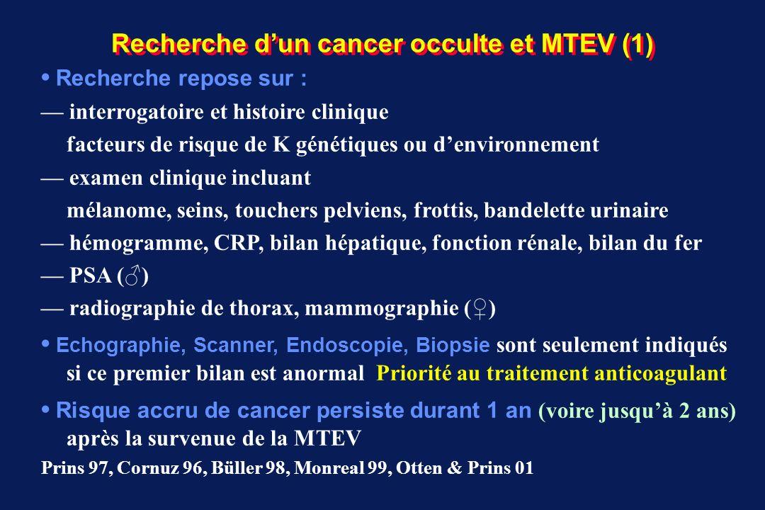 Recherche d'un cancer occulte et MTEV (1)