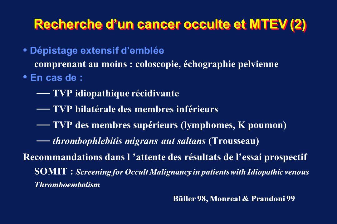 Recherche d'un cancer occulte et MTEV (2)