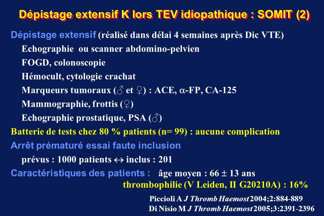 Dépistage extensif K lors TEV idiopathique : SOMIT (2)