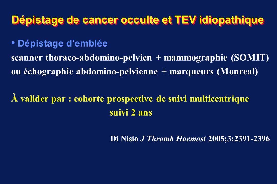 Dépistage de cancer occulte et TEV idiopathique