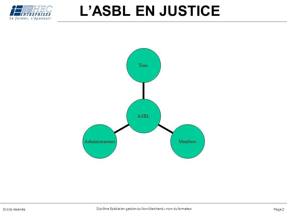 L'ASBL EN JUSTICE