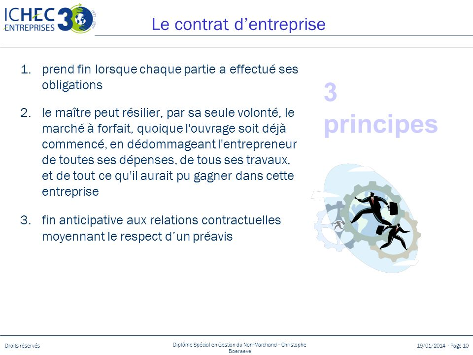 Le contrat d'entreprise